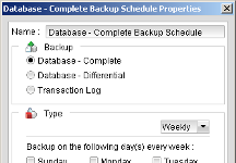Configure backup schedule